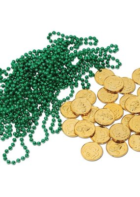 ***Leprechaun Loot Beads 12ct + Gold Coins 25ct