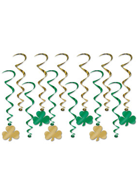 ***St. Patrick's Day Shamrock Whirls 12ct