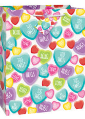 ***Candy Hearts Large Valentine Gift Bag