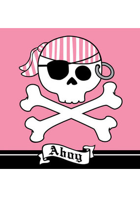 ****Pirate Party Pink Lunch Napkins