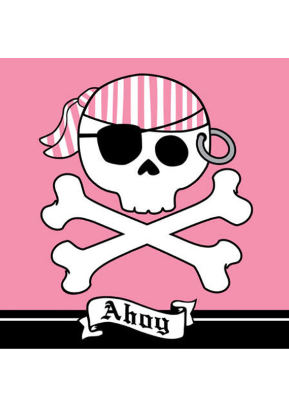 ****Pirate Party Pink Lunch Napkins 16ct