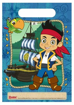 ***Jake and the Neverland Pirates Loot Bags 8ct