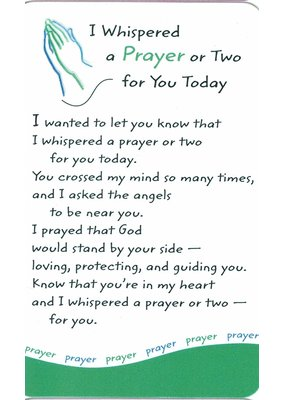 ***I Whispered a Prayer for You Wallet Card