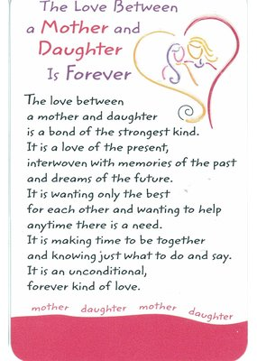 ***Love Between Mother and Daughter Wallet Card