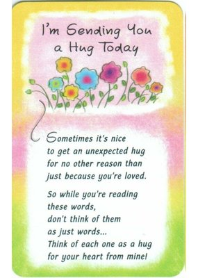 ***Sending You a Hug Today Wallet Card