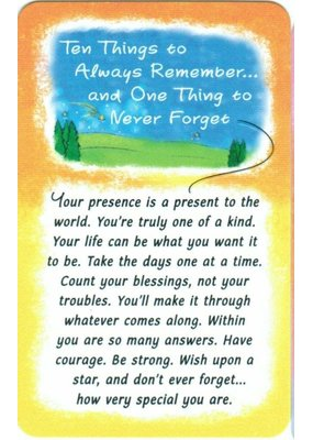 ***Ten Things to Remember Wallet Card