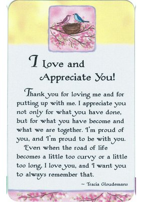 ***I Love and Appreciate You Wallet Card