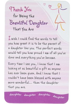 ***Thank You Daughter Wallet Card