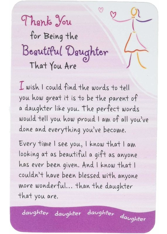****Thank You Daughter Wallet Card