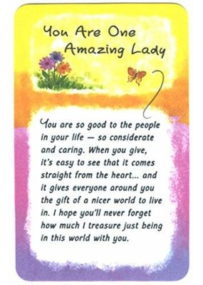 ***One Amazing Lady Wallet Card