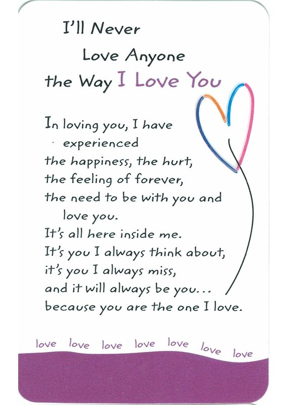 ***The Way I Love You Wallet Card