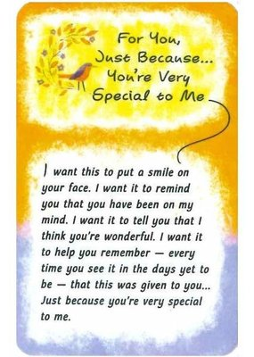 ***You're Very Special To Me Wallet Card