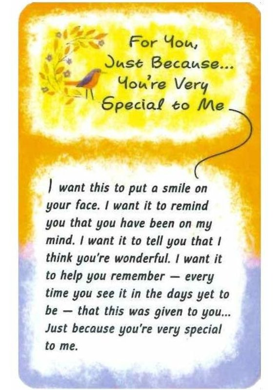 ****You're Very Special To Me Wallet Card