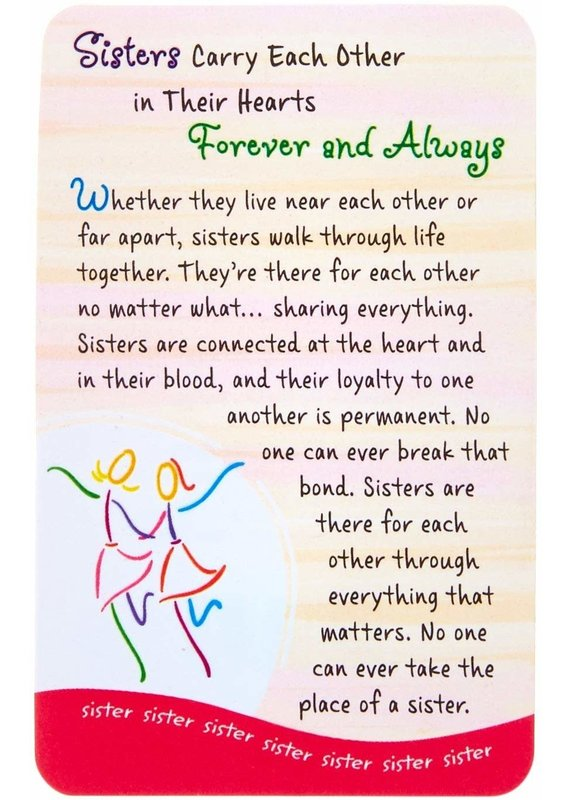 ****Sisters Carry Each Other Wallet Card