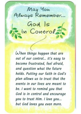 ***God is In Control Wallet Card