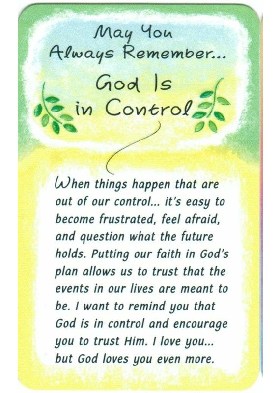 ****God is In Control Wallet Card