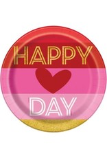 ****Gold Happy Valentine's 9in Plate