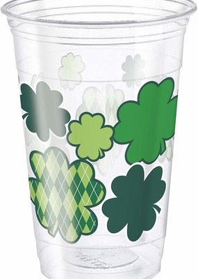 ***St. Patrick's Day Clear 16oz Plastic Cup