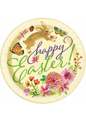 ***Floral Easter Bunny 9in Plate