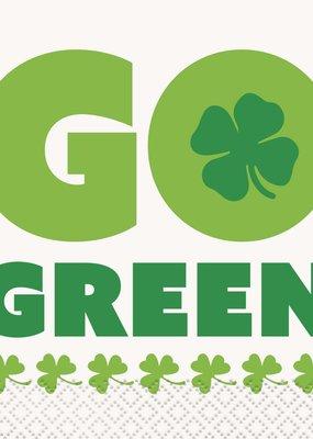 ***Go Green St. Patrick's Day Beverage Napkins