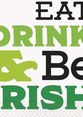 ***Eat Drink & Be Irish Beverage Napkins