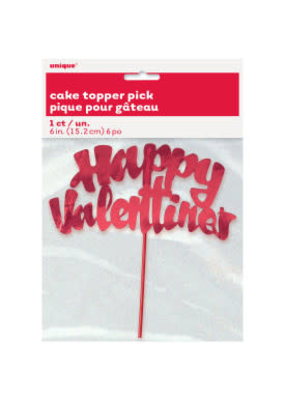 ***Red Valentine Cake Topper Pick