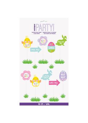 ***Easter Egg Hunt Clue Signs 10ct