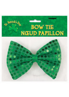 ***Emerald Green Sequin Bow Tie St Patrick's Day