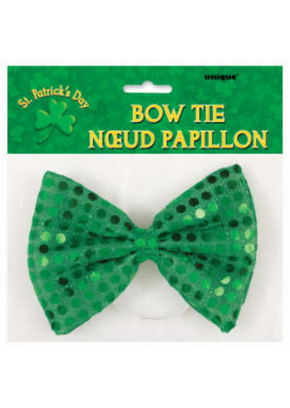 ****Emerald Green Sequin Bow Tie St Patrick's Day