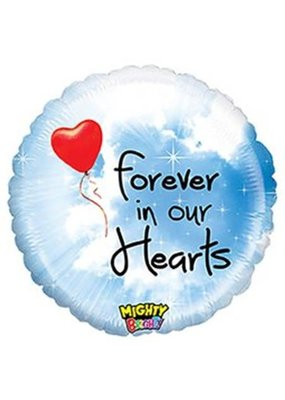 "***Mighty Bright 21"" Forever in Our Hearts Balloon"