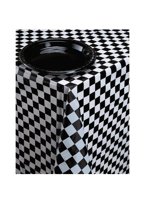 ***Black & White Check Rectangle Tablecover