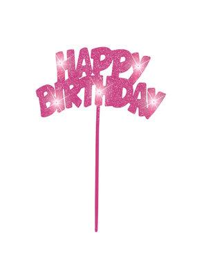 ***Pink Flashing Birthday Decoration