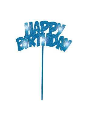 ***Blue Flashing Birthday Decoration