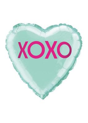 ***Mint Love XOXO Heart Mylar Balloon