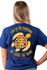 ***Short Sleeve Save Sunflower Midnight