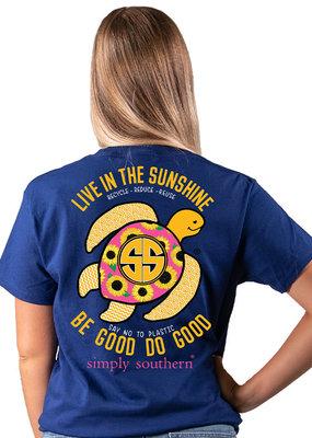 ***Short Sleeve Save Sunflower Midnight