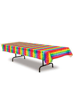 ***Tie-Dyed Plastic Tablecover