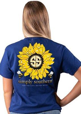 ***Short Sleeve Sunflower Midnight
