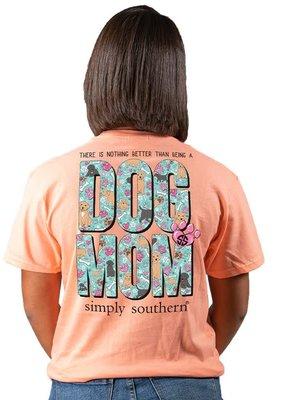 ***Short Sleeve Dog Mom Peachy