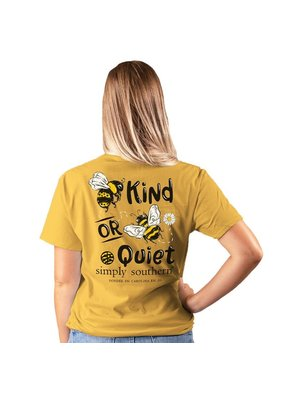 ***Short Sleeve Bee Quiet Mustard