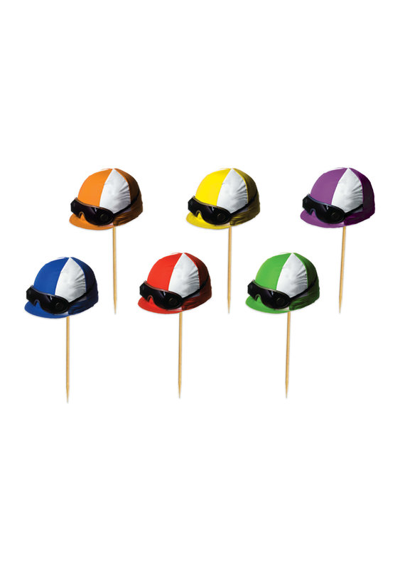 ***Horse Racing Jockey Helmet Food Picks 50ct