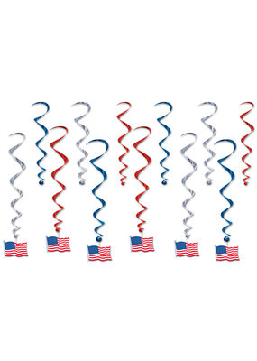 ****American Flag Whirls 12ct