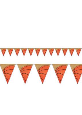 ***Basketball Pennant Banner 12ft