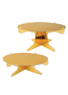"***Gold Metallic 12.5"" Cake Stands 2ct"