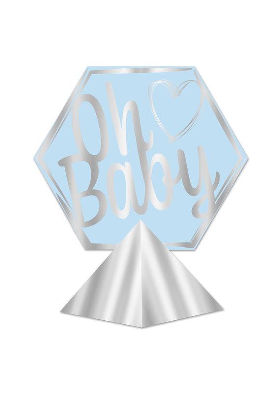***Blue Oh Baby 3D Foil Centerpiece