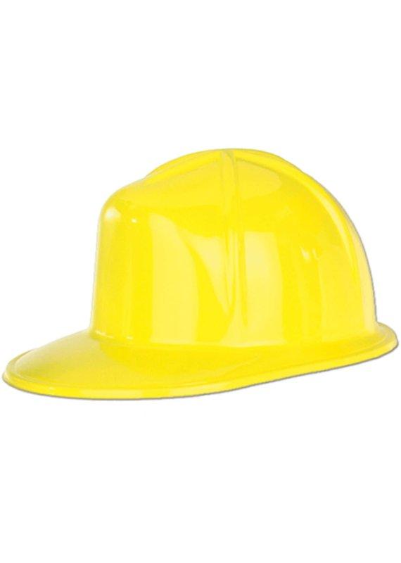 *****Yellow Plastic Construction Helmet Hat