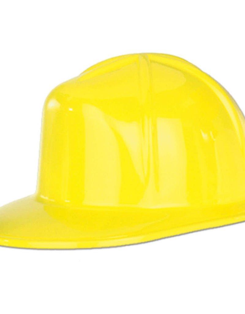 ***Yellow Plastic Construction Helmet Hat