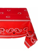 ****Red Bandana Western Tablecover