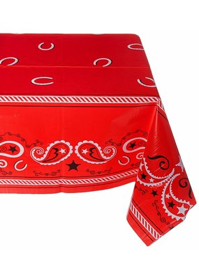 ***Red Bandana Western Tablecover
