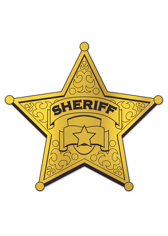 ****Gold Sheriff Badge Cutout